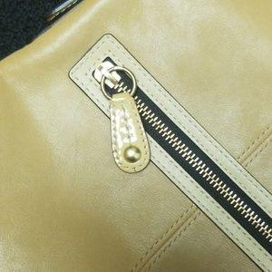 Coach Bags - COACH Fold-Over Crossbody Tan Bonnie Beige 13388